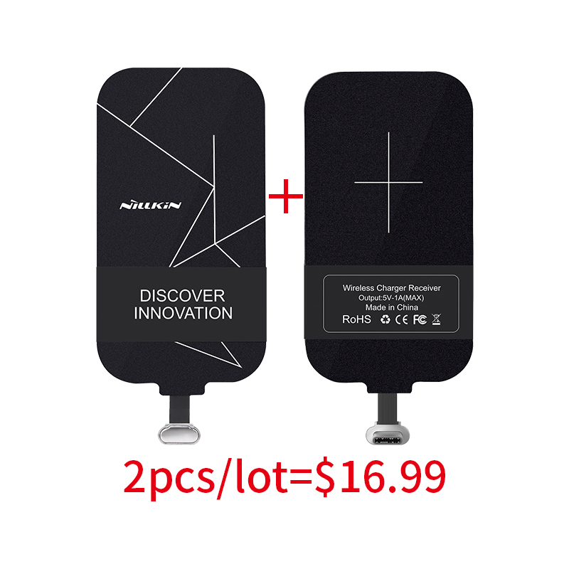 Nillkin QI Wireless Charging Receiver Micro USB/Type C Adapter For iPhone5S/SE/6/6S/7 Plus for Samsung S7Edge/note 4x mi a1 5x