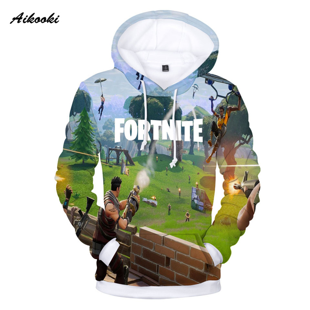 Aikooki Full 3D Print Game Fortnite Hoodies Men Cap Sweatshirt Polluver Harajuku Fortnite Battle Royale 3D Printed Men Clothing 4