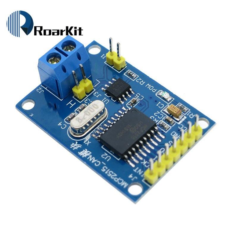 Mcp2515 pode bus módulo tja1050 receptor spi para 51 arduino diy kit mcu braço controlador