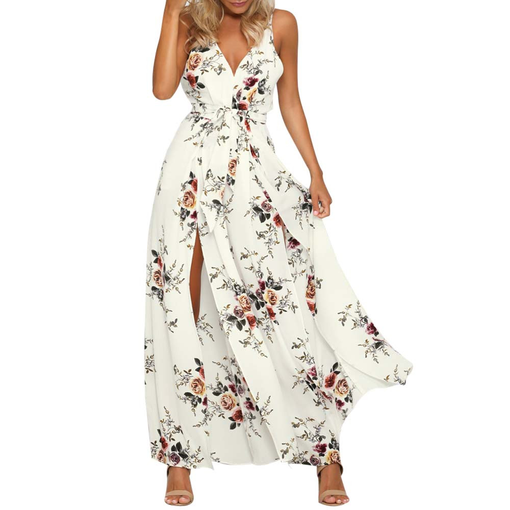 CHAMSGEND Women Sleeveless Floral Print Jumpsuit Summer Loose Playsuit Rompers  Drop Shipping 3m22*