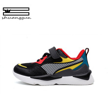 SHUANGGUN 2018 Sapatos Para Meninos Tênis 2018 Nova Marca Ao Ar Livre Tênis Respirável Crianças sapatos Casuais Tamanho 27 ~ 37