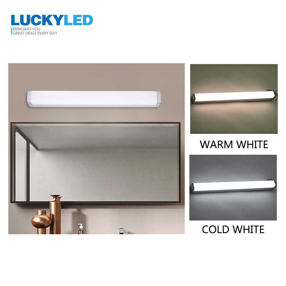LUCKYLED Wall Lamp Bathroom Led Mirror Light 7W 45CM 220V 110V Modern Wall Mounted Sconces Waterproof Wall Lamps Bedroom light