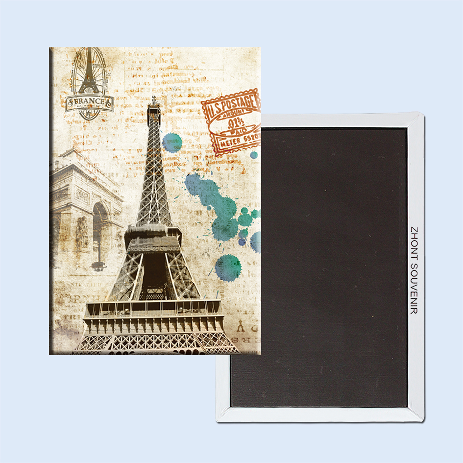 US $3 48  The Eiffel Tower in Paris, France postcards 22582 Landscape  Magnetic refrigerator Travel souvenirs gifts for friends-in Fridge Magnets  from