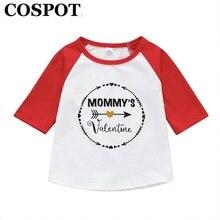 6ee48e8b39e1f COSPOT garçons filles T-shirt enfants à manches longues plaine rouge blanc  T Shirt garçon fille Tee hauts bébé garçon fille vête.