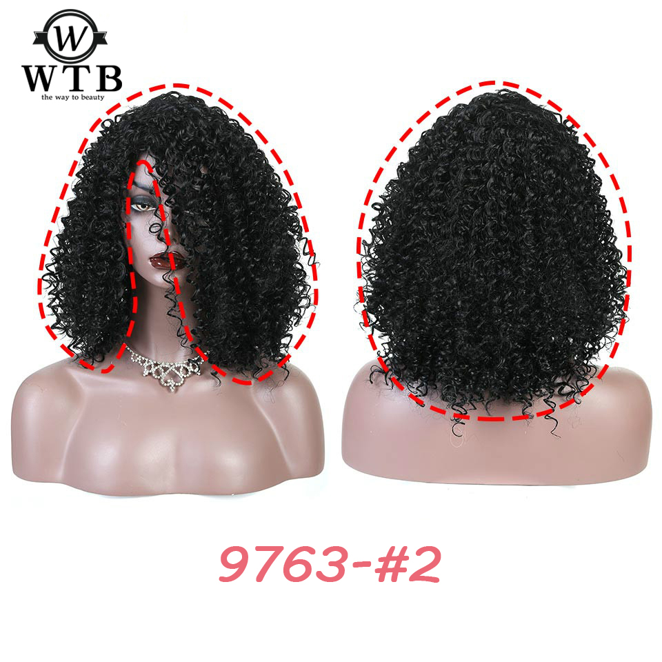 WTB 6 style Synthetic Hair High Temperature Fiber Wig for Women Hot selling Thick and Tidy Large amount Afro Kinky Curly Wig