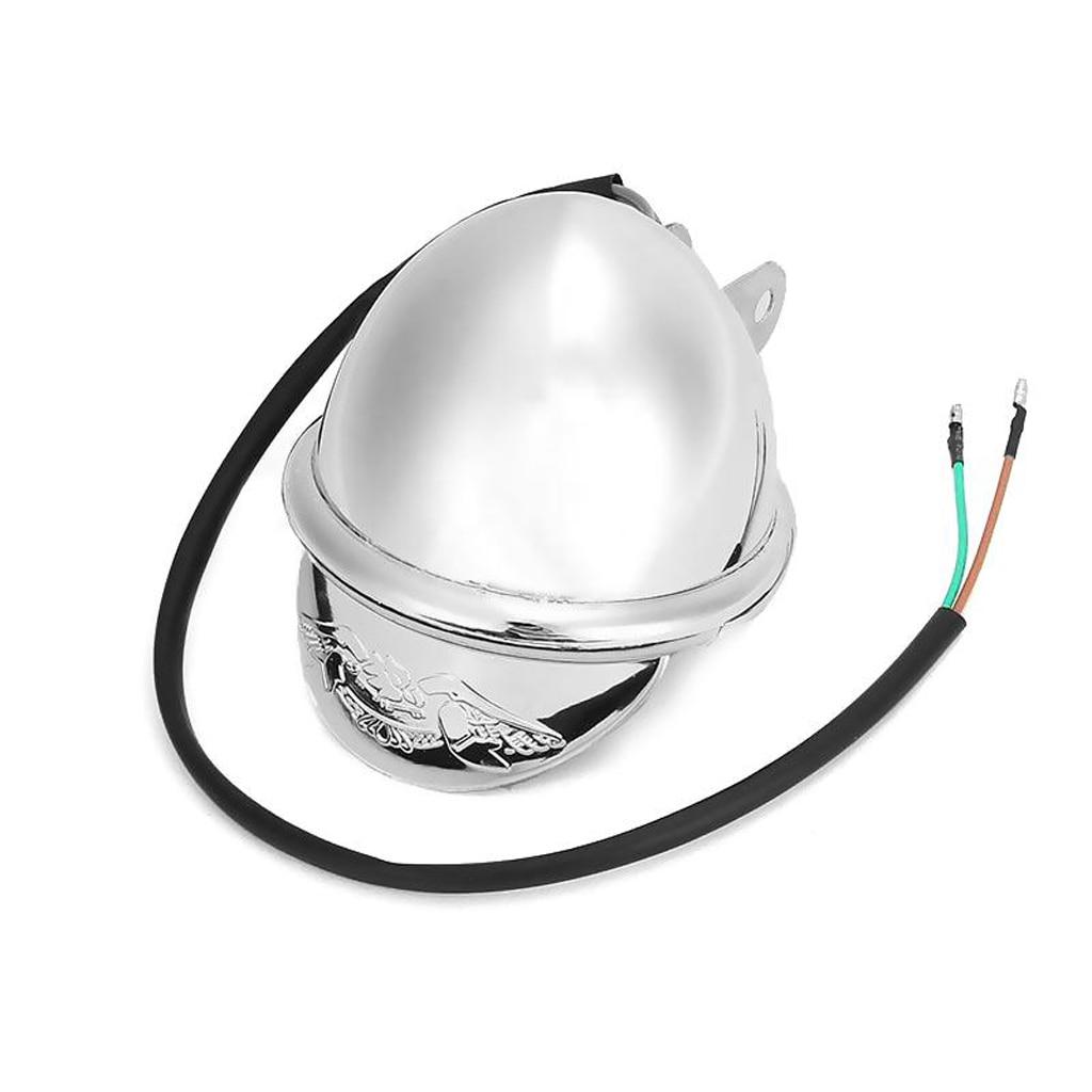 DC 12V Chrome Motorcycle Headlight Touring Motorbike Bullet Fog Light ABS Shell Motorcycle Headlight Bulbs For Honda