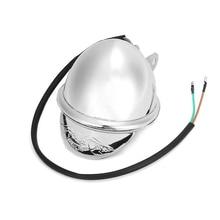 DC 12V Chrome Motorcycle Headlight Touring Motorbike Bullet Fog Light ABS Shell Bulbs for Honda