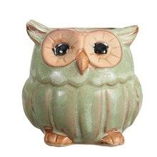 Small Ceramic Owl for Home Decor