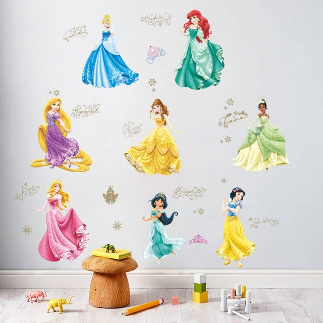Hot Sale Princess Wall Stickers Girl Children Kids Bedroom Home Decor Wall  Decals Fro Zen Wallpaper