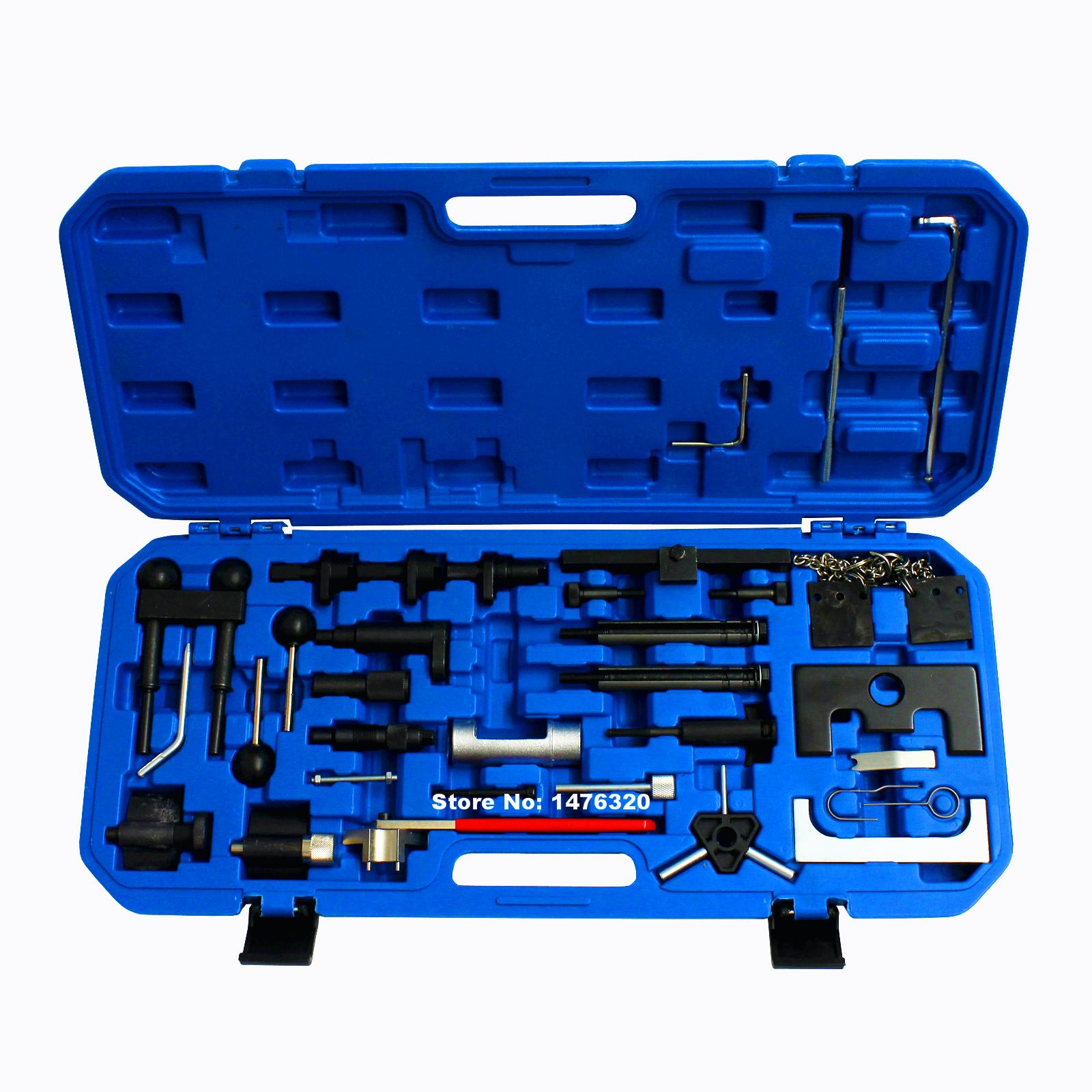 Automotive Diesel Petrol Engine Timing Tool Kit For VW AUDI A2/A3/S3/A4/A6/TT & 1.2/1.4/1.6/1.8/1.8T/2.0 AT2055 wholesale 2 2 2 5 dci engine camshaft timing tool crankshaft alignment locking set for renault auto repair tools 2pcs lot