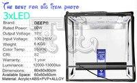 3 шт. LED 80x80 см Аксессуары для фотостудий софтбокс Стрельба Light Палатка фотовспышкой палатки + переносная сумка + 2 фонов