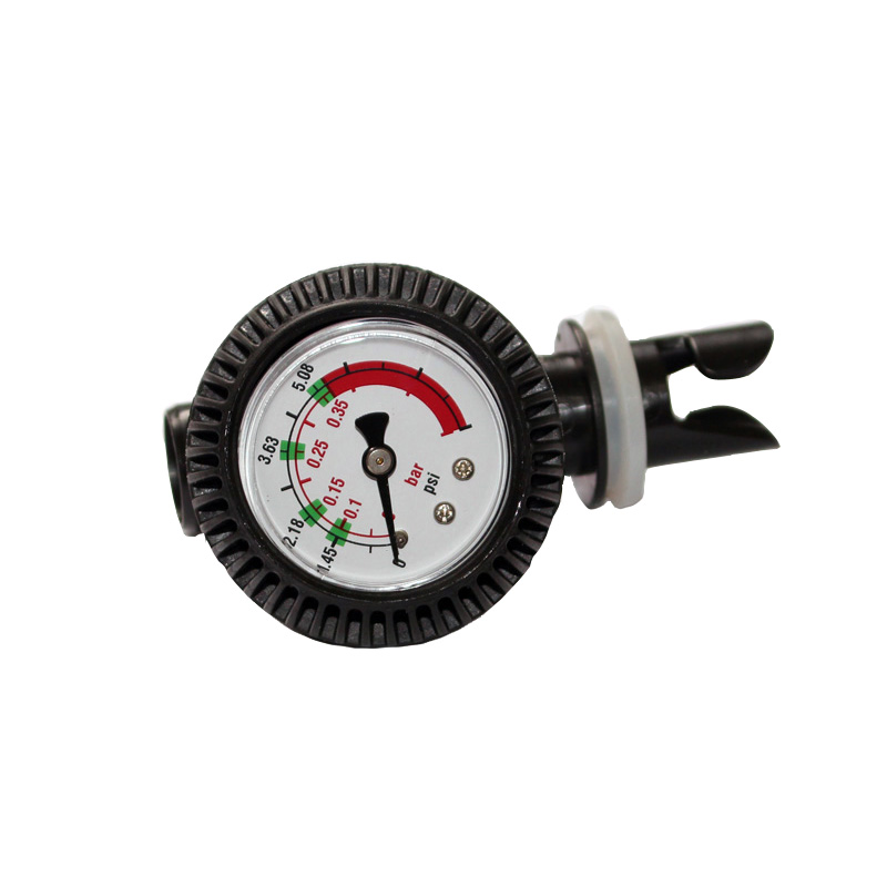 PVC pressure gauge air thermometer for inflatable boat kayak test air valve connector SUP stand up paddle board surfing A09005