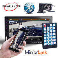 Touch screen Handsfree 2DIN 7Inch Car radio stereo Bluetooth support 9 languages remote control Mirror link for Android