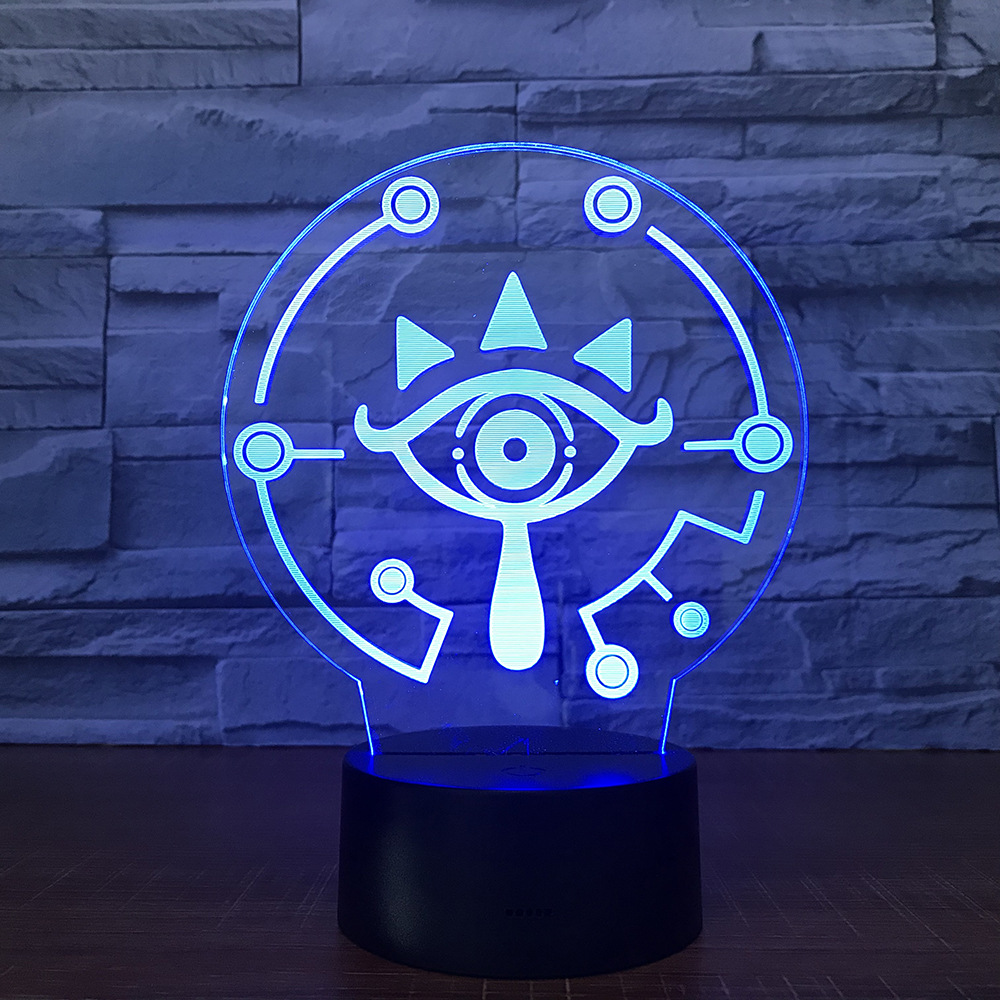The Legend of Zelda 3D LED Table Lamp BREATH OF THE WILD LINK Nightlight 7 Color Changing Visual Illusion Light Drop Shipping цена
