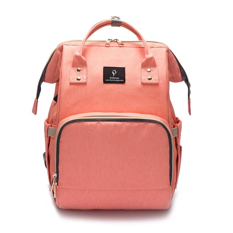 Fashion Maternity Nappy Bag With USB Interface Large Capacity Waterproof Diaper Bag Kits Backpack Maternity Nursing Baby Bag