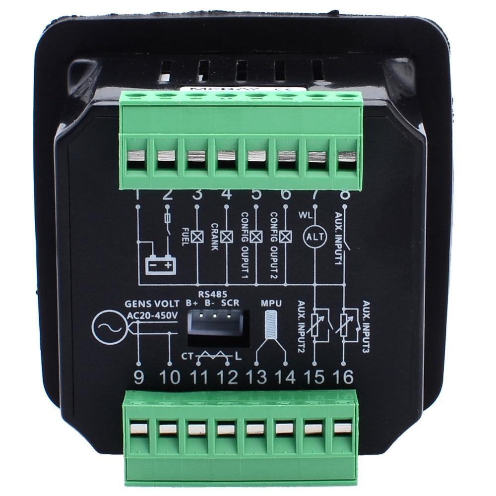 DC20D MKII Genset контроллер обновленная версия для дизельного/бензинового двигателя или генератора с RS485 порт связи 12006020