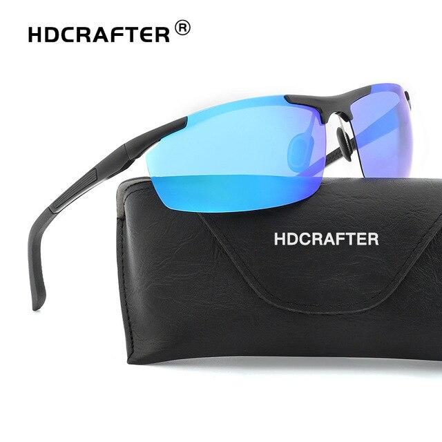 1506f160f0f HDCRAFTER Men Polarized Aluminum-Magnesium Mirrors Sunglasses Day Night  Driver Sun Glasses Top Quality Male Goggles Night Vision