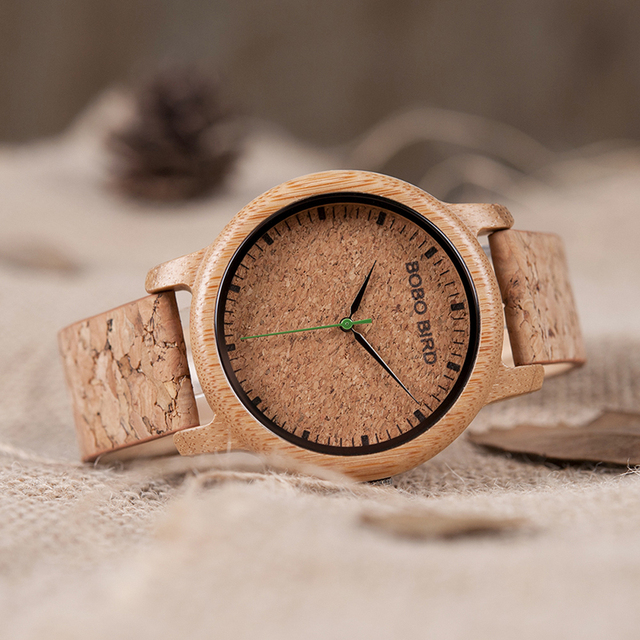 Bamboo  Analog Display  Handcrafted Timepieces Wooden Lover's Watches