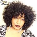 Peruano Kinky Curly Full Lace Perucas de Cabelo Humano 100 Cabelo Humano perucas Para Africano Americanos 7A Glueless Parte Dianteira Do Laço Perucas de Cabelo Humano