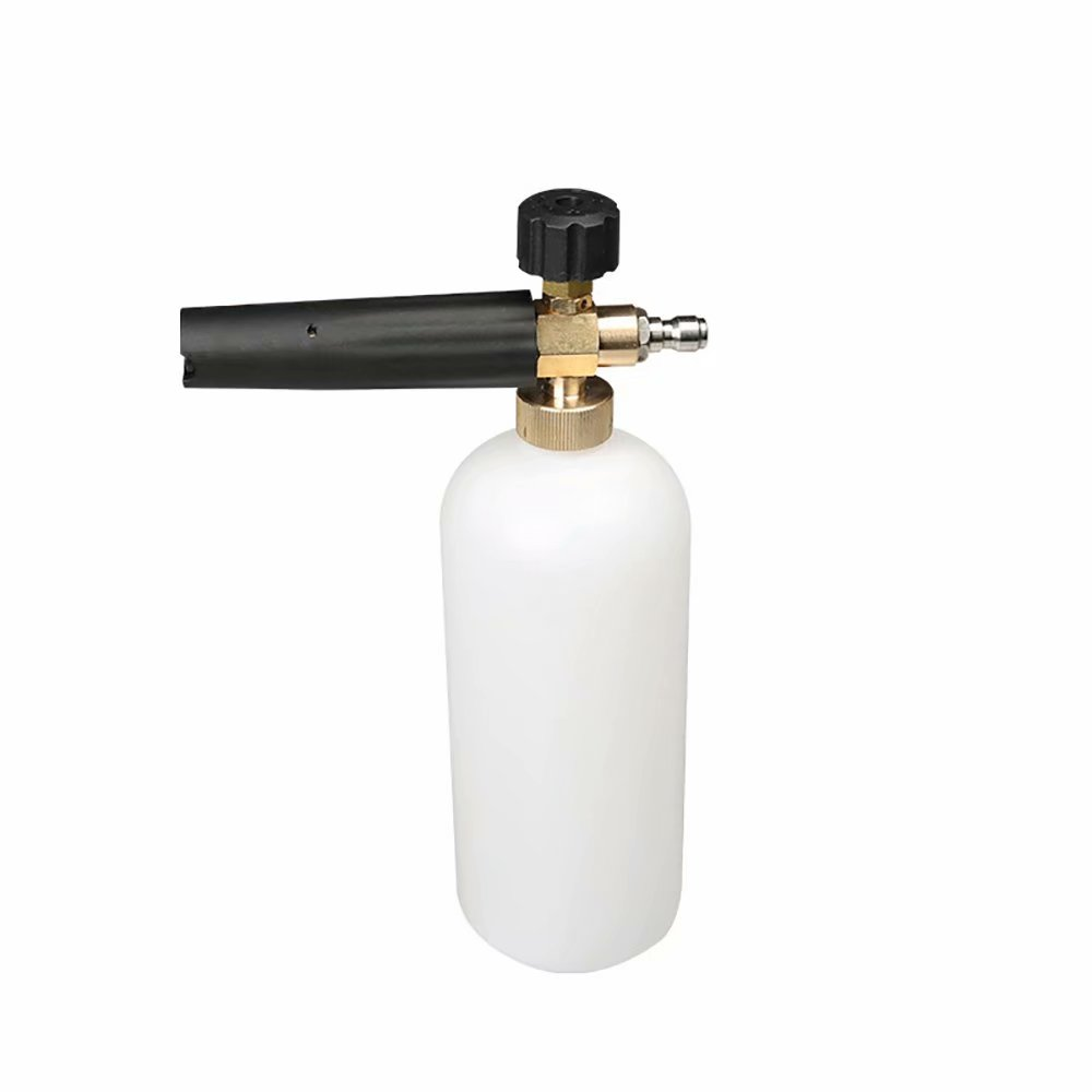 "High Pressure Washer Snow Foam Lance 1/4"" Quick Release Adjustable Nozzle Sprayer Foam Cannon"