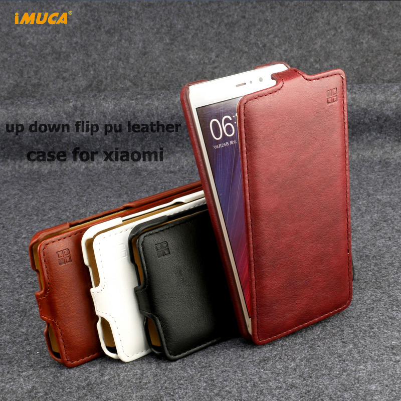 IMUCA Phone Cases Xiaomi Redmi 3 Case Cover Flip Leather Back Cover Xiaomi Redmi 4x 4