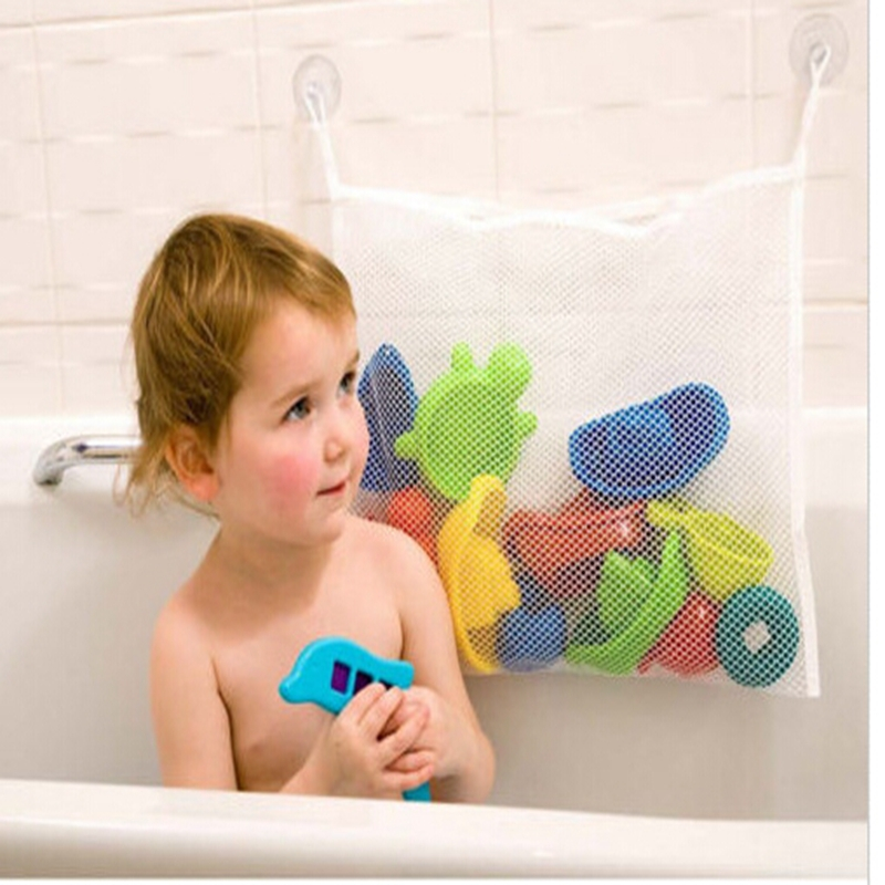 2016 hot selling kids baby bath tub toy tidy storage
