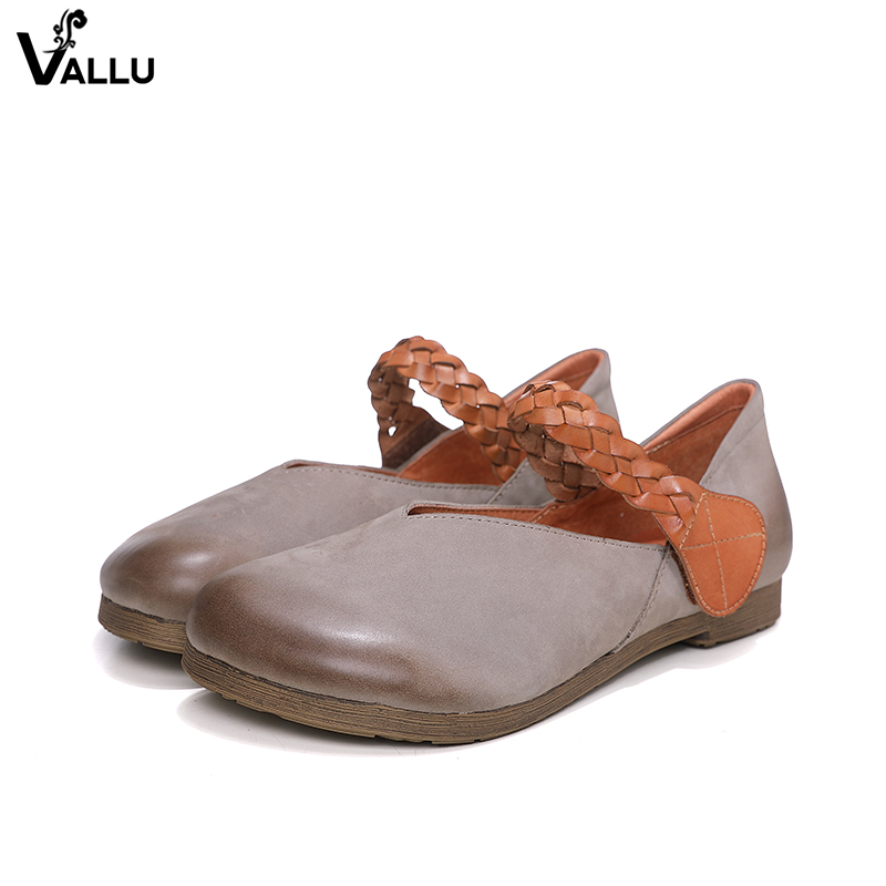 Woven Belt Strappy Shoes Lady 2018 Latest Design Women' s Flat Shoes Natural Leather Round Toe Comfort Brand Casual Female Flats chainsaw module ignition coil wire kit for husqvarna 36 41 136 137 141 142 chainsaw 530039239