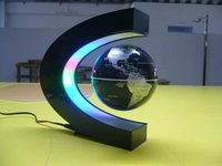 Electronic Led Light Wireless Power Magnetic Levitation Floating World Map 3 Inch Antigravity Globe Magic Gift