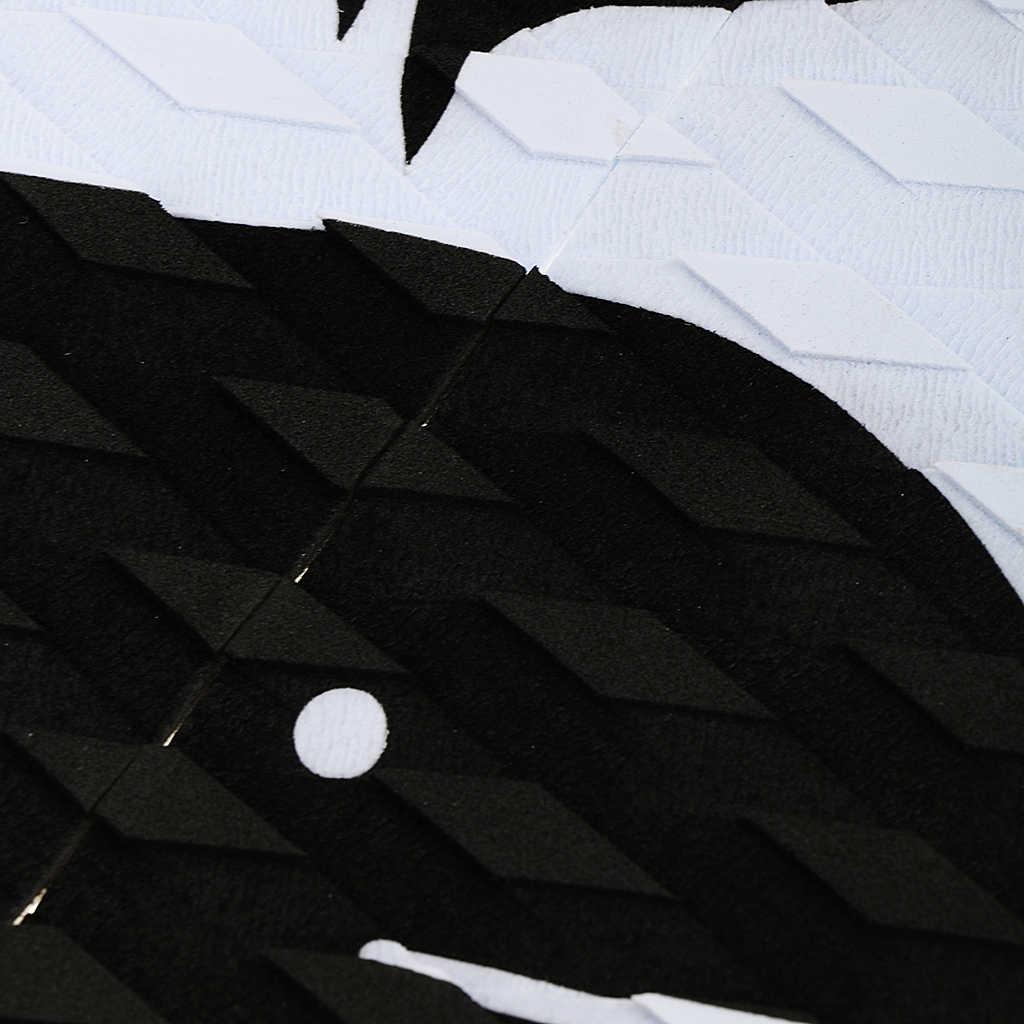 EVA 3 pièces planche de Surf Traction queue tampons Surf Surf Deck anti-dérapant poignées blanc noir Bodyboard Sports nautiques Surf accessoire
