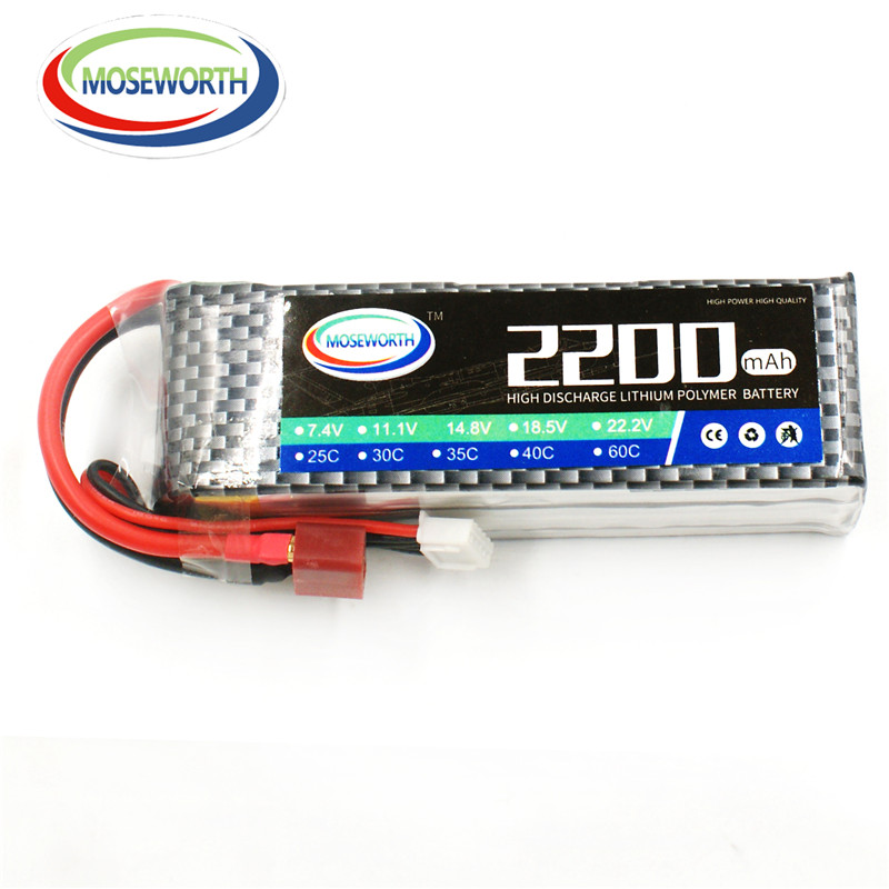 MOSEWORTH 2S RC lipo battery 7.4v 2200mah 25C for rc airplane boat car quadcopter lithium polymer batteria mos 5s rc lipo battery 18 5v 25c 16000mah for rc aircraft car drones boat helicopter quadcopter airplane 5s li polymer batteria