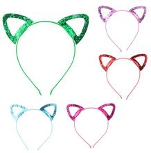 20x Hair Accessories Children Girls Shiny Cute Cat Ears Headband Hairwear Head Band with Party Kids Gift *new*