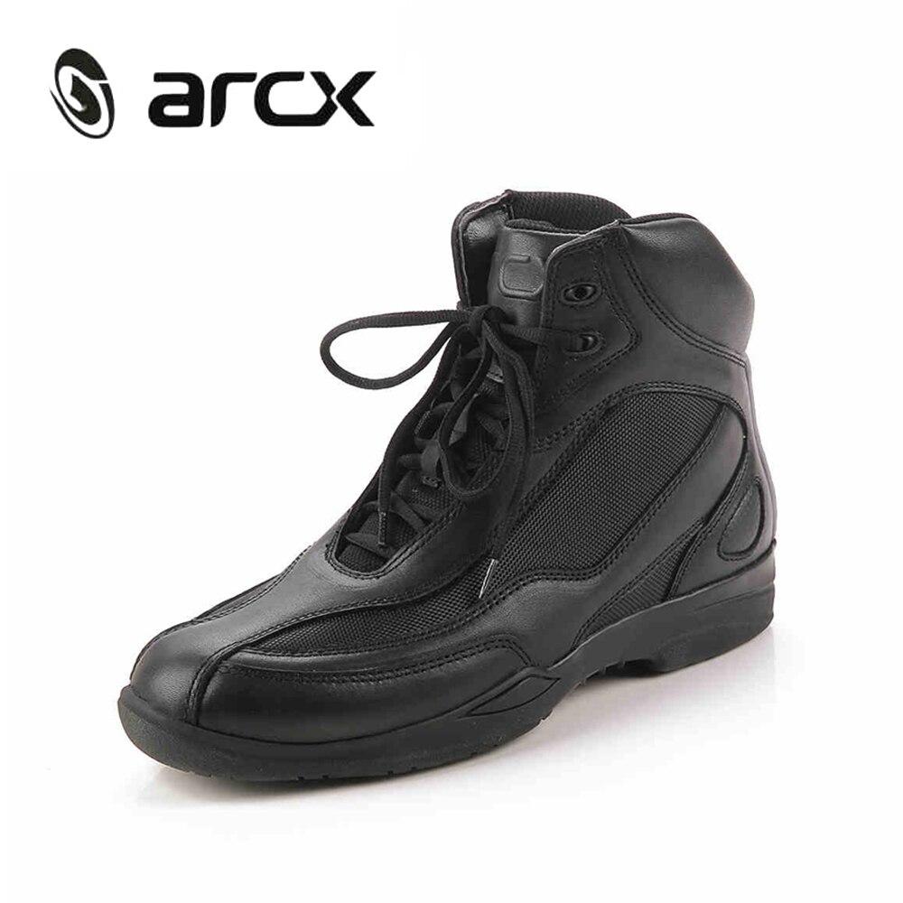 ARCX мотоцикл сапоги Воздухопроницаемой сеткой Мото мото сапоги для верховой езды обувь Байкерские ботинки мотоцикл гастроли ботильоны L60449