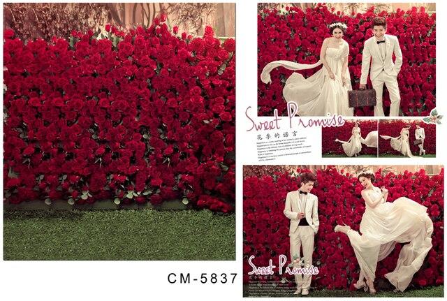 Rose Garden 5x7ft Indoor Photography Studio Props Printed Shop Decor Wedding Vinyl Backgrounds Wallpaper Backdrop Posters