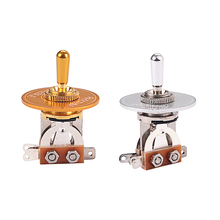 3 Way Toggle Switch Pickup Selector + Rhythm Treble Ring for Electric Guitar Accessory