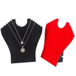 TONVIC шт. 4 шт. бархат модные украшения дисплей для шт. 6 цепочки и ожерелья держатель доска на ножках оптовая продажа высокое качество