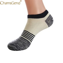 Chamsgend Newly Design Five Color Choice Men's Retro Striped Low Cut Short Ankle Sneaker Socks 80306(China)