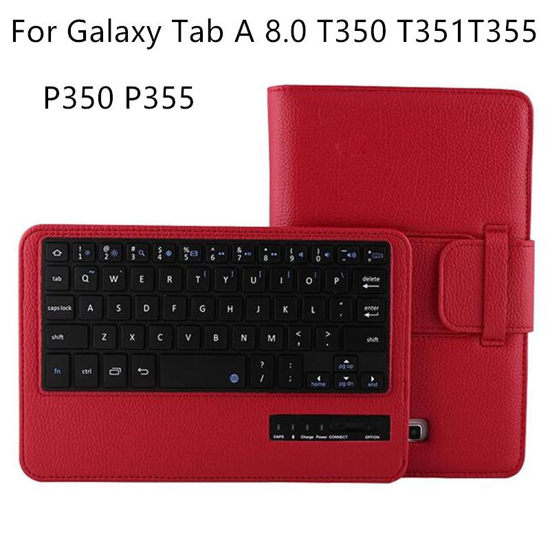 Case For Samsung Galaxy Tab A 8.0 T350 T351 T355 C Tablet Wireless Bluetooth keyboard Protective PU Leather SM-T355 P350 5 Case protective pu leather case for samsung galaxy note 3 n9006 n9000 n9002 white black