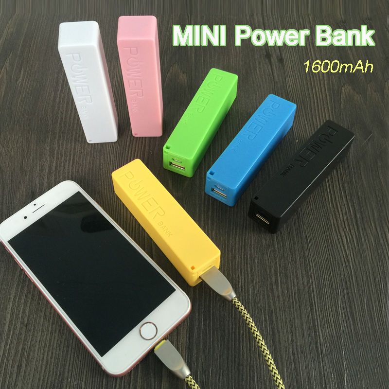 Caliente Mini caramelo color 1600 mAh Banco de la Energía Batería Externa powerb
