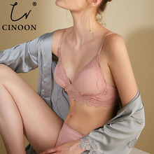 CINOON Fashion Stripes Cotton Underwear Set Fashion Bra Set