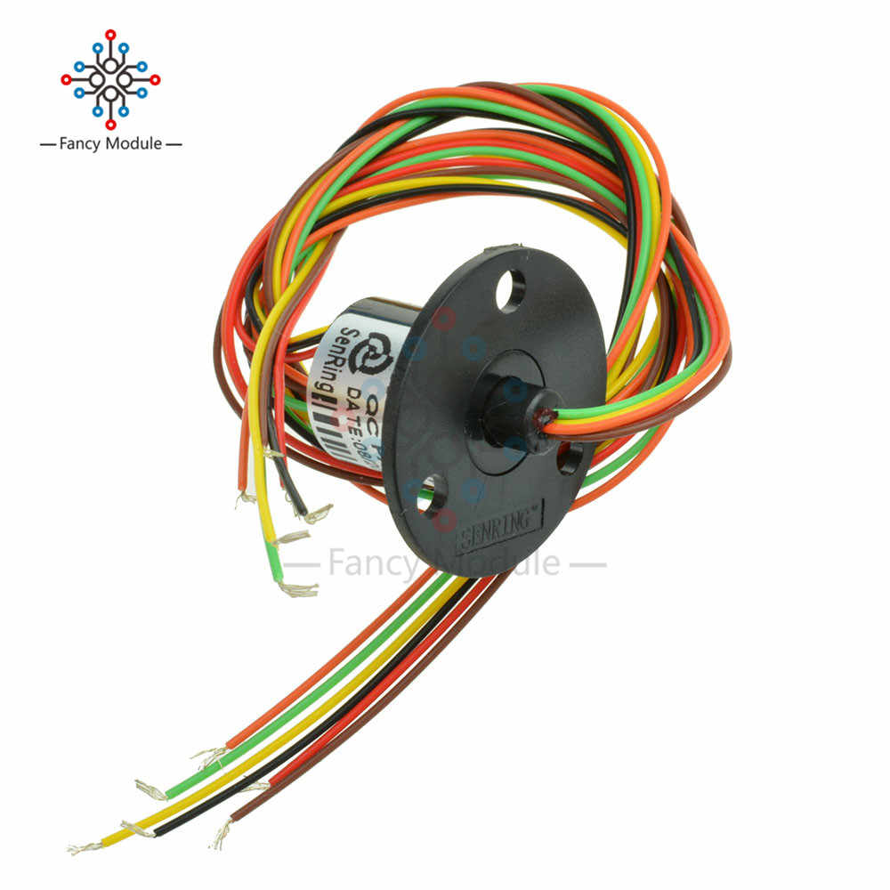 hight resolution of detail feedback questions about 12 5mm 300rpm 6 wires circuitsx2a capsule slip ring ac 240v for monitor robotic on aliexpress com alibaba group