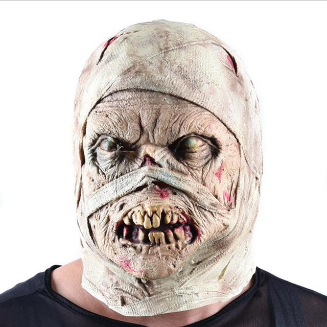 The Mummy Halloween Mask Scary Rubber Horror mascaras de latex realista mummified Pinhead Demon Parasite mummification Masks