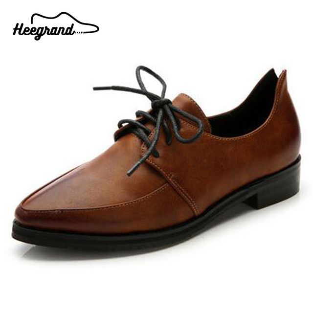 634430852 HEE GRAND Women s Flats Shoes Hot Selling Spring Autumn Mixed Colors Pointed  Toe Lady Oxfords Flats