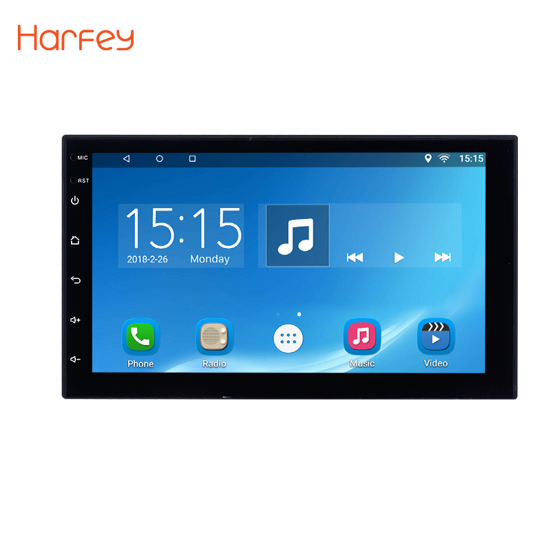 Harfey Android 6.0 2 Din Universal Car Radio Bluetooth Touchscreen GPS Multimedia Player For Nissan VW Toyota Kia Hyundai Suzuki car dvd gps android 8 0 player 2 din radio new universal gps navigation multimedia for nissan toyota volkswagen mazda byd kia vw