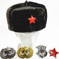 レイ風水帽子大人軍事帽子革冬帽子厚い冬の毛皮の帽子ミリタリーコスプレアクセサリー