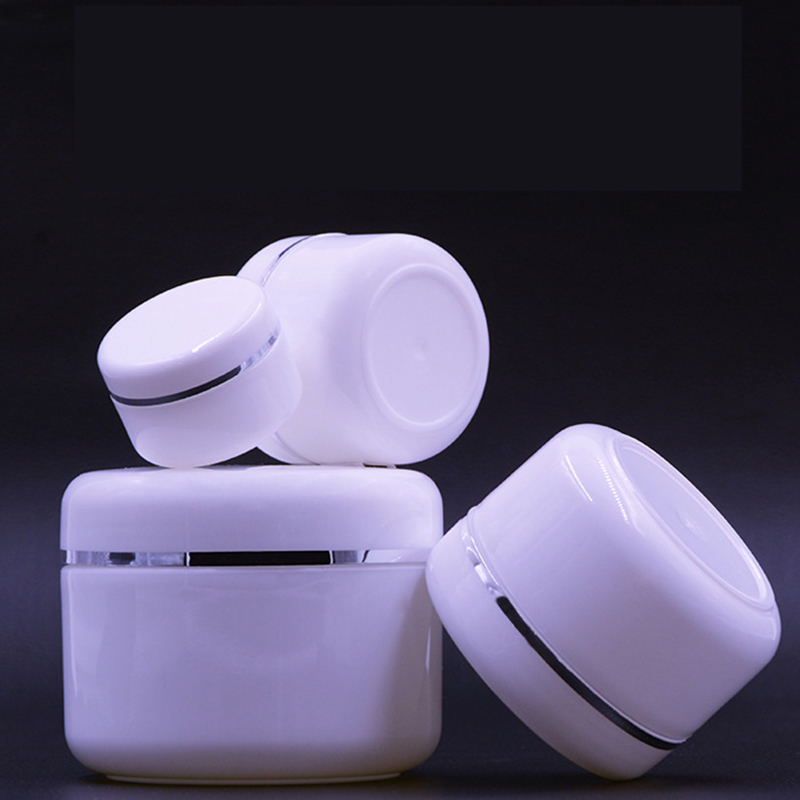 Refillable Bottles Travel Face Cream Lotion Cosmetic Container Plastic Empty Makeup Jar Pot 20/50/100/250g цена