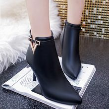 9CM size 34-40 autumn winter Women add thick Keep warm girl cotton shoes snow Martin boots(China)