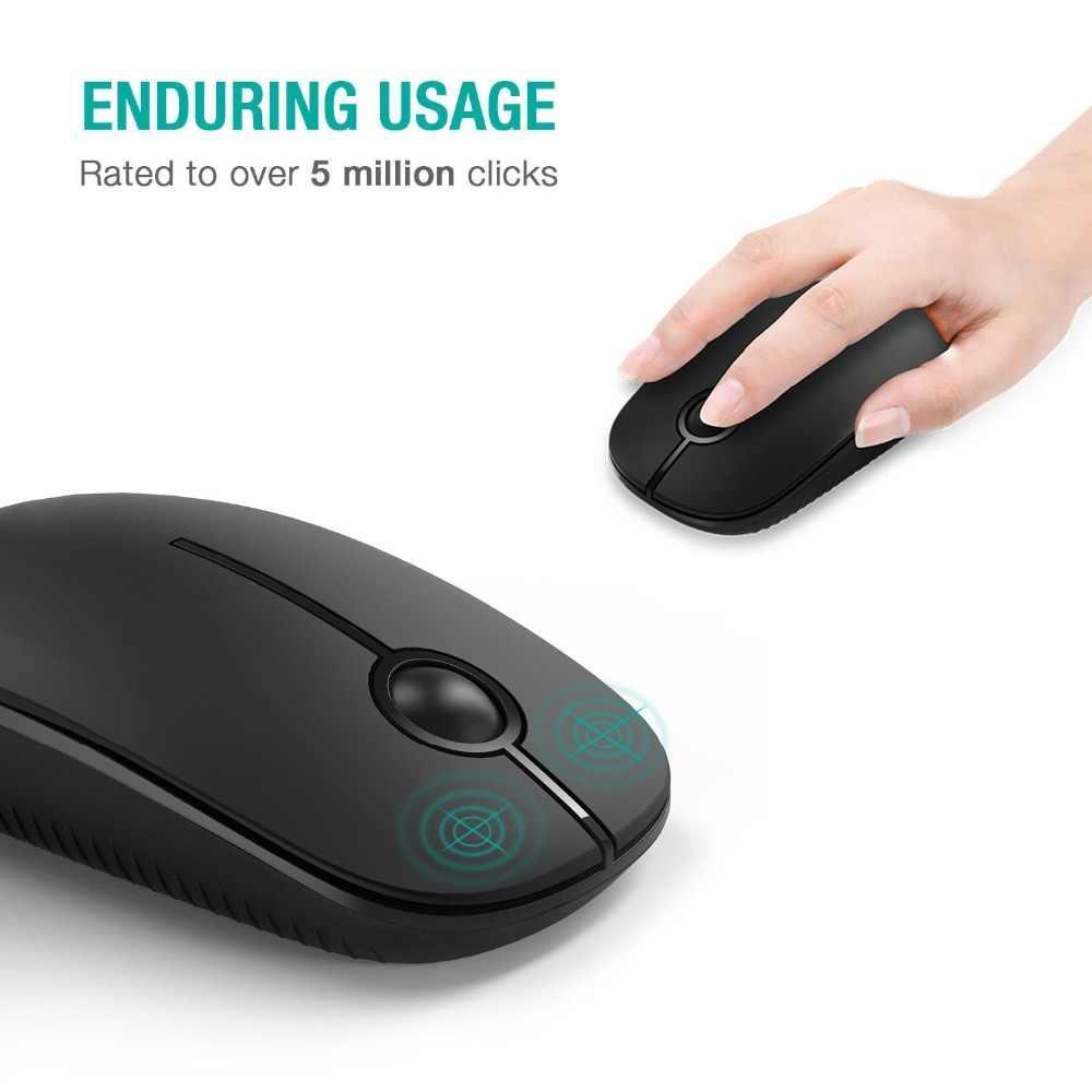 SeenDa беспроводная мышь 2,4 ГГц бесшумный нано-приемник эргономичные мыши 1600 точек/дюйм Бесшумная маза для компьютера ноутбука настольная Бесшумная мышь