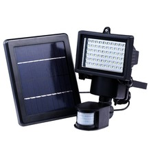 Binval Solar 60 LED Lamp Motion Sensor Security Street Light For Outdoor Decoration Wall Patio Driveway Garden Spot Lighting