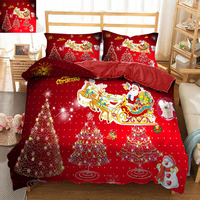 Christmas wedding bedding set decorate 3D bedsheet Duvet Pillowcase bed cover Twin king size Queen Bed Linen Home Textiles