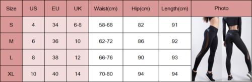 セクシーな女性のジムフィットネスレギンスランニングスポーツ通気性圧縮高ウエストエクササイズメッシュ乾性速ジョギングパンツ